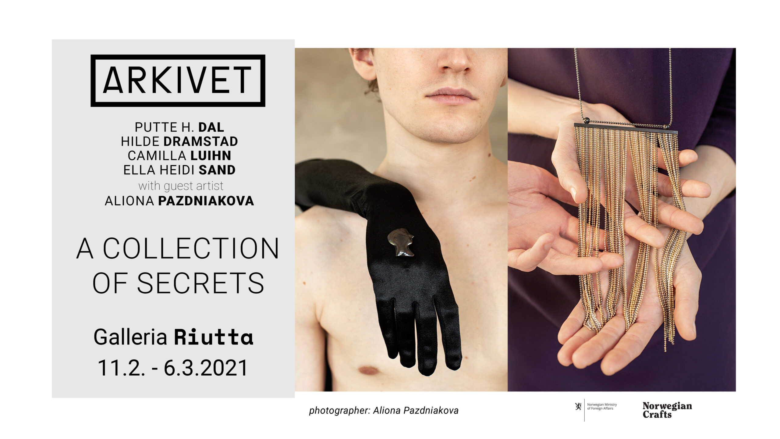 RIUTTA  – ARKIVET — a Collection of Secrets 11.2.2021-6.3.2021
