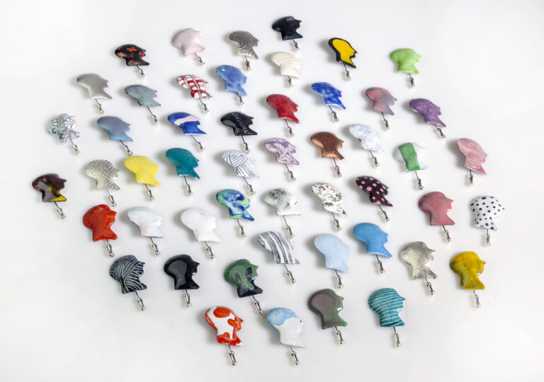 Camilla Luihn - The Half-brother | 1-50 Pins, 2020, silver, copper, enamel, 50 ex.