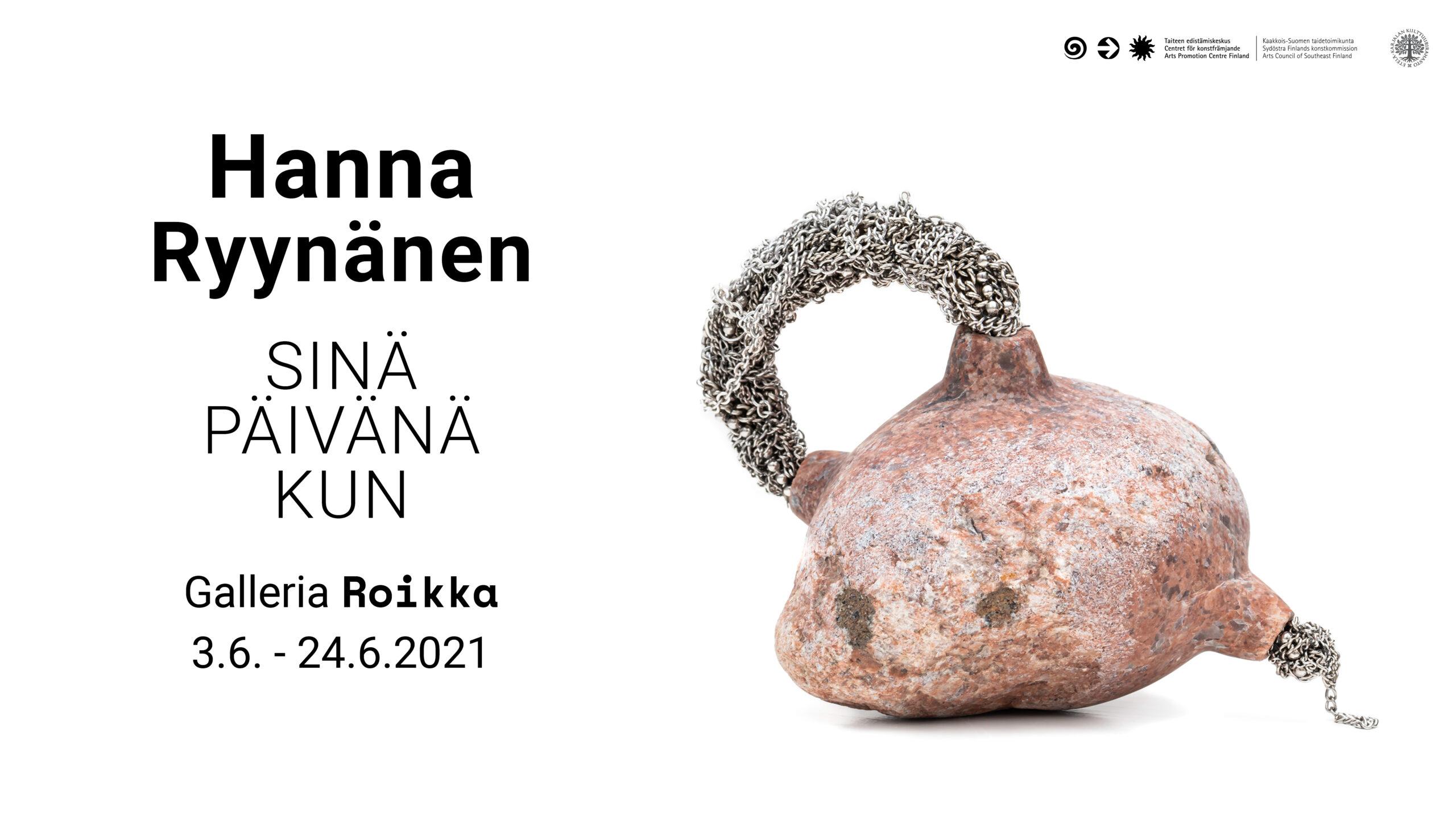 Roikka – Susa Walve — Näin kulutan aikaa 26.8. -18.9.2021