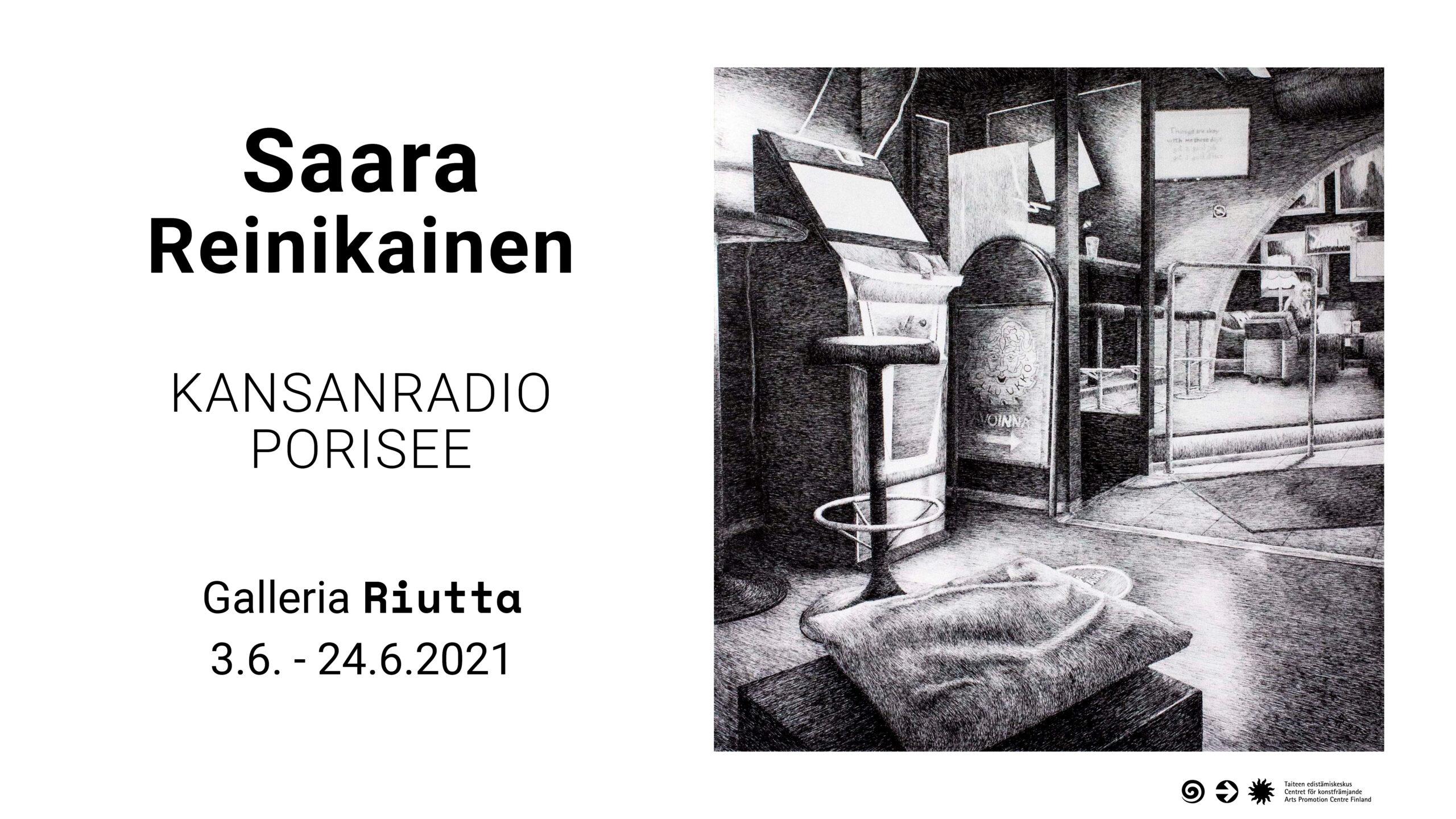 RIUTTA  – Saara Reinikainen — Kansanradio porisee 3.6. -24.6.2021